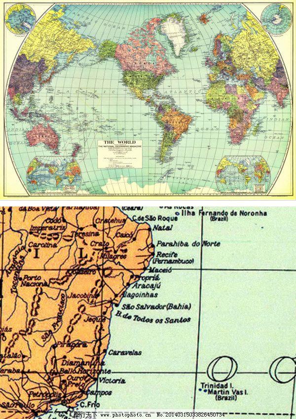 旅行 牛皮纸 世界地图      英文 英语 超清 高清 世界地图 航海地图