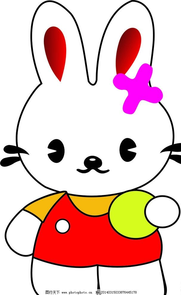 兔子 矢量兔子 小白兔 卡通兔子 矢量素材 其他矢量图片