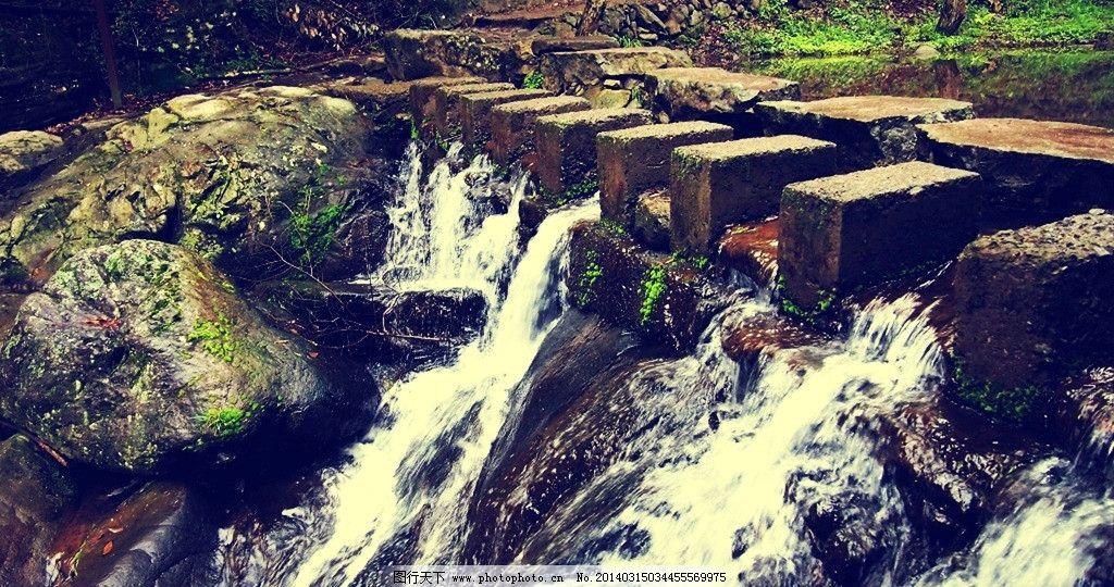 流淌 小溪 石头 溪水 落叶 清澈 绿树 徒步在山水间 山水风景 自然