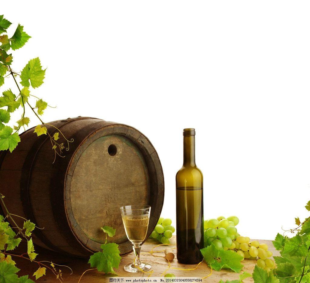 红酒 绿色 酒桶 葡萄酒 唯美 清新 饮料酒水 餐饮美食 摄影 300dpi