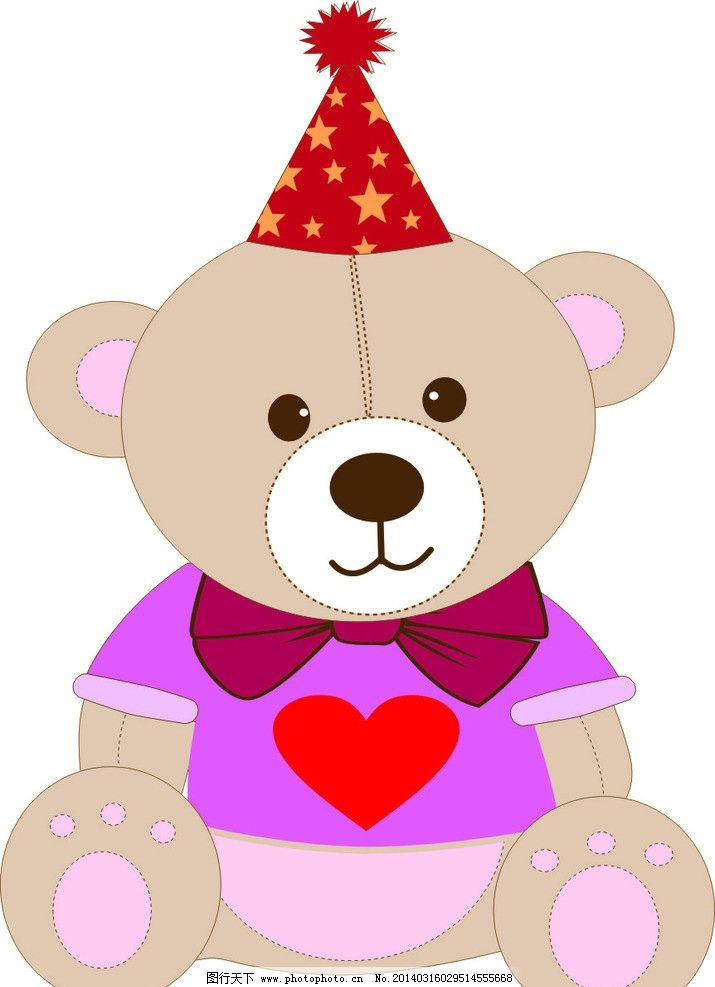 小熊卡通失量可爱图片