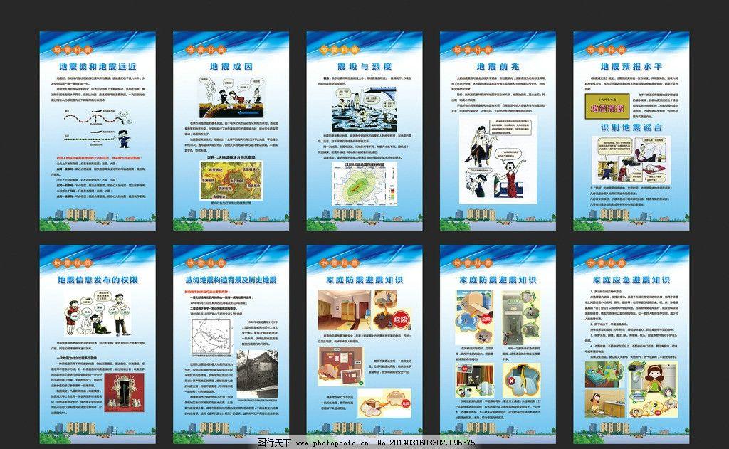 地震科普知识展板图片