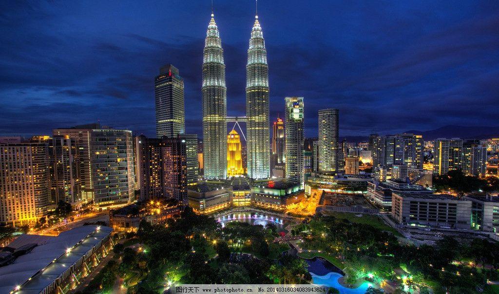 吉隆坡 城市 夜景图片