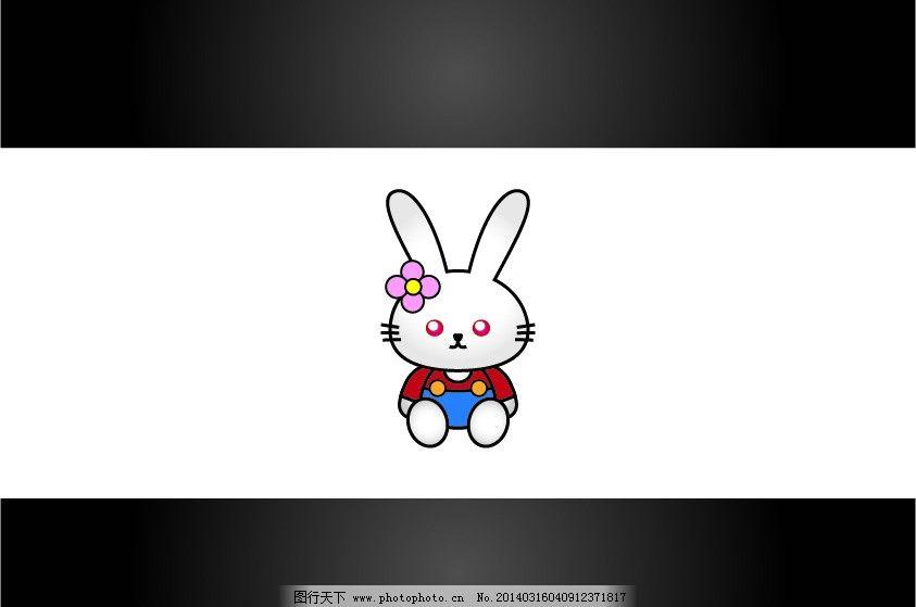 幼儿彩色简笔画兔子