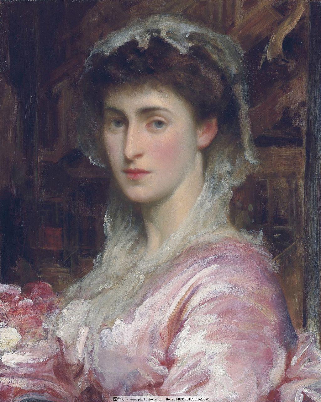 欧洲古典美女油画2