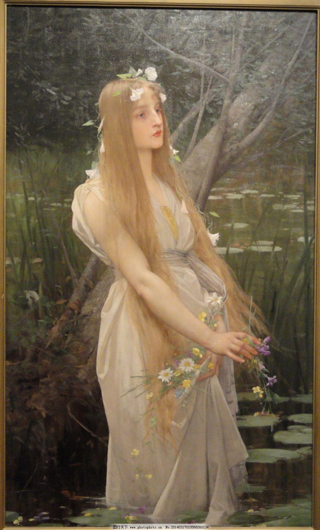 欧洲古典美女油画