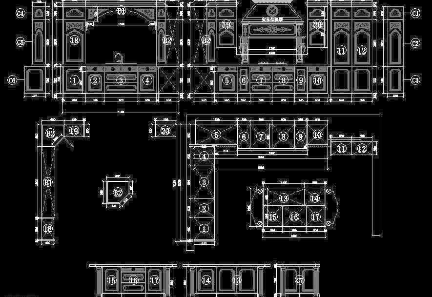 cad cad平面图 cad设计图 cad图纸      厨房立面图 厨房设计 厨房