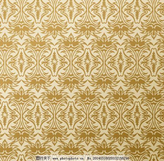 欧式壁纸 墙纸 花型 图案 底纹 花纹花边 矢量
