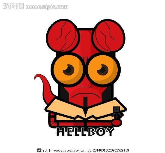 大眼睛地狱男爵 卡通 动漫 大眼睛 可爱 矢量人物 其他人物 矢量 ai