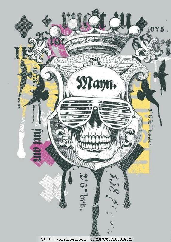 t恤图案欧美纹身设计 t恤花纹 服装设计 t恤 哥特花纹 摇滚花纹 欧美