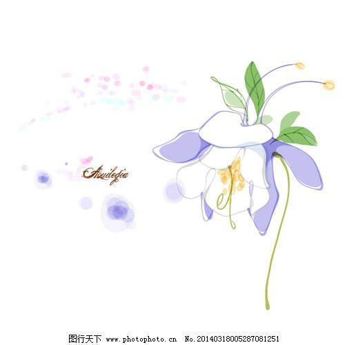 设计图库 设计元素 纹理边框  水仙花矢量图免费下载 ai 花卉 铃兰 紫