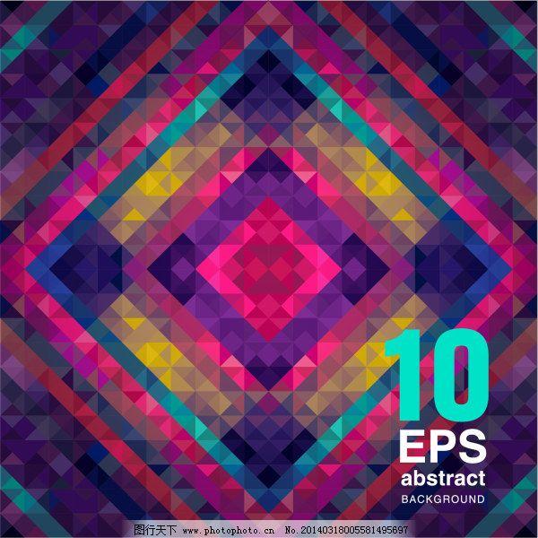 抽象几何图形背景矢量素材 编号 20140205025020