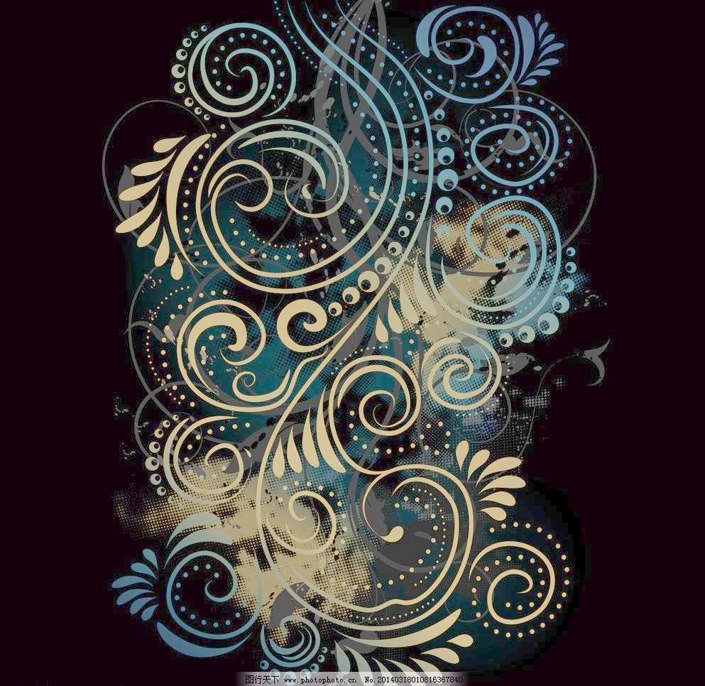 菜单 传统花纹 底纹背景 底纹边框 古典 古典底纹 手绘花纹矢量素材
