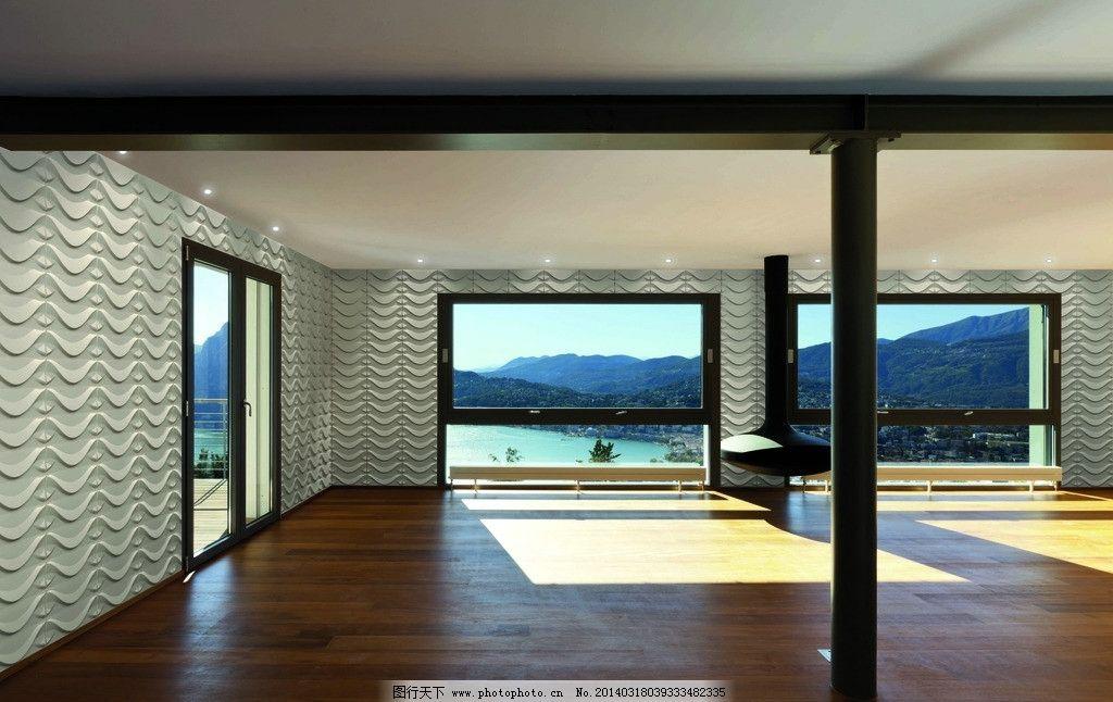室内设计 装修 装饰 装潢 墙壁 窗户 壁灯 海景 别墅 室内 室内摄影