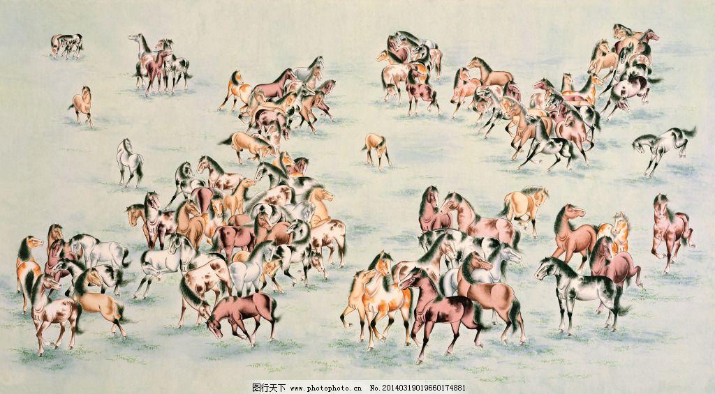 百马图免费下载 jpg 动物 古代大画 中国百图 动物 马 jpg 图片素材
