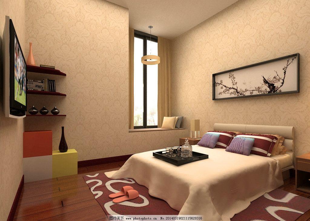 室内设计 效果图 家居设计 空间设计 卧室效果图 卧室设计 清新设计