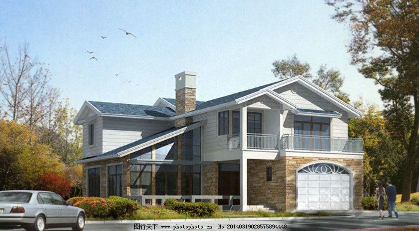 二层农村别墅图片