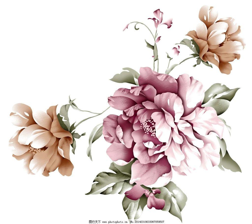 手绘花朵(通道分层)图片
