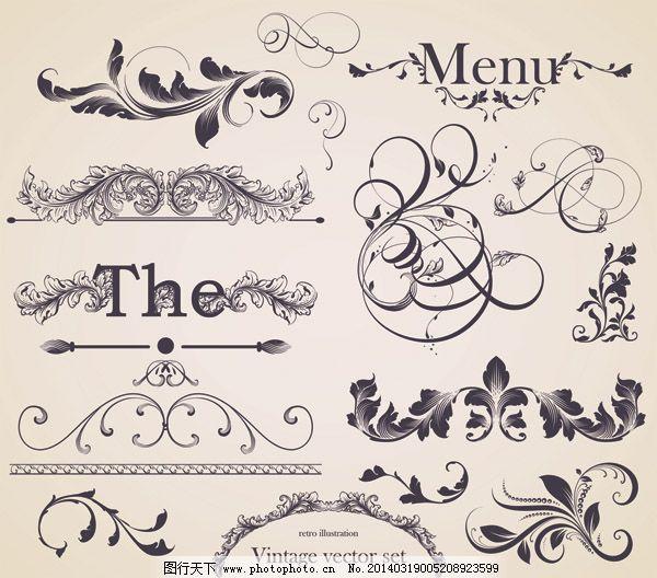 古典花纹 花卉 花纹标签