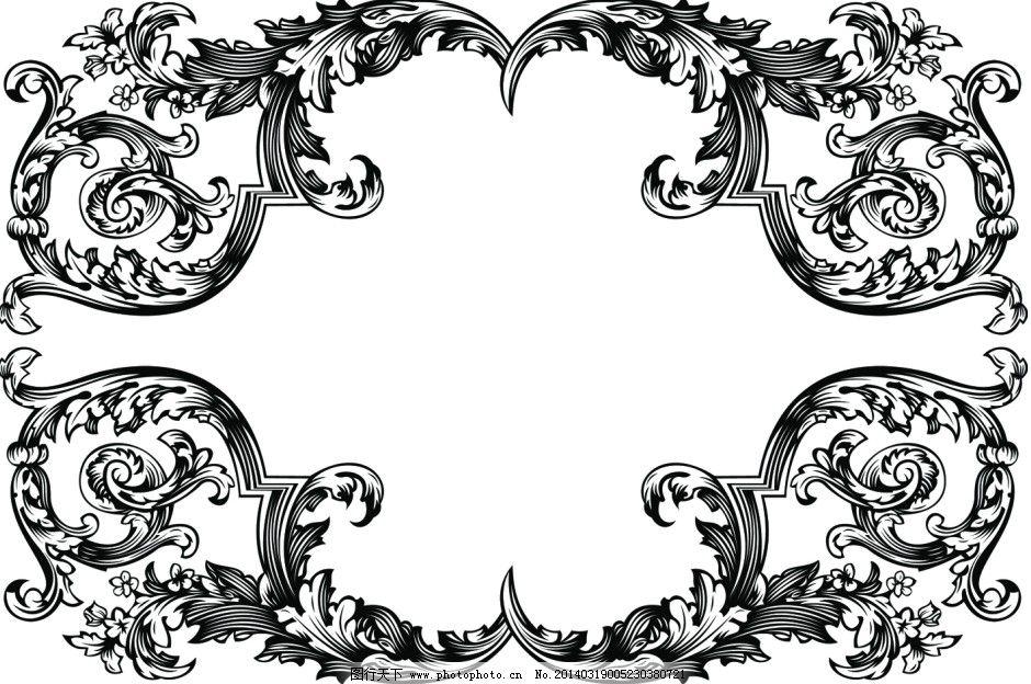 边框ai矢量素材 复古纹样 古典花边 花纹边角 装饰边框 欧式花纹矢量