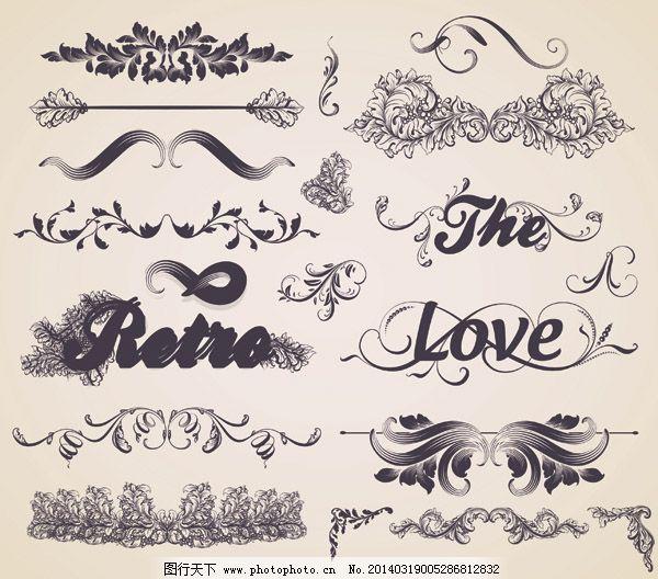 欧精美欧式花纹边框矢量素材 菜单 传统花纹 古典花纹 花卉 花纹标签