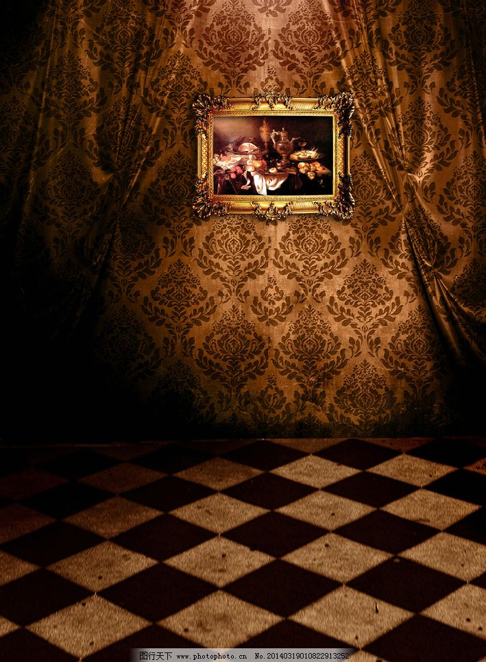 地板 环境设计 灰色 马赛克 欧式 设计 室内 室内设计 相框 照相馆