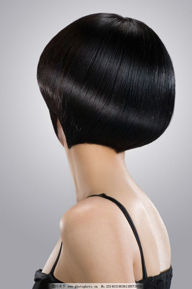 发型 短发 背影/短发发型背影图片