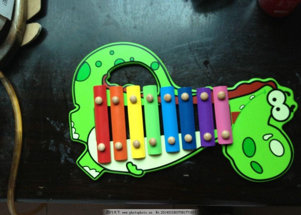 儿童玩具 敲击钢琴 儿童 玩具 鳄鱼 可爱的 七彩的 生活素材 生活百