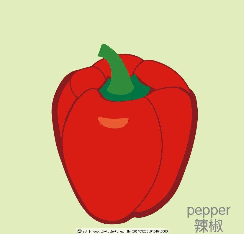 辣椒 矢量 蔬菜 蔬菜卡片 卡通蔬菜设计 简笔画 卡通设计 广告设计 ai图片
