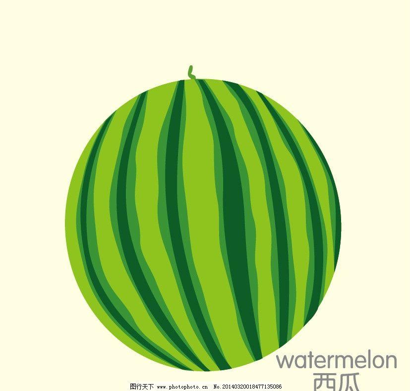西瓜 矢量 水果 水果卡片 卡通水果设计 简笔画 卡通设计 广告设计 ai