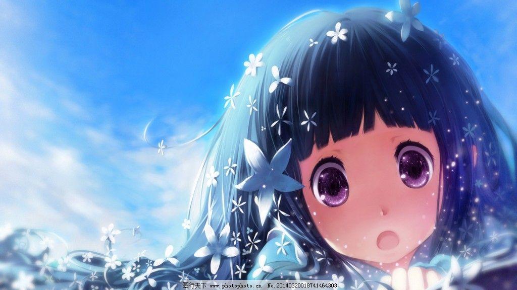星星女孩 星星女孩免费下载 大眼睛 可爱 萌 齐刘海 图片素材
