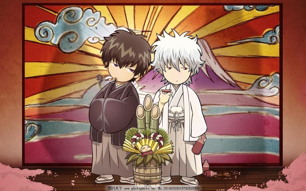 银魂卡通q版免费下载 可爱 土方 可爱 坂田银时 图片素材 卡通动漫