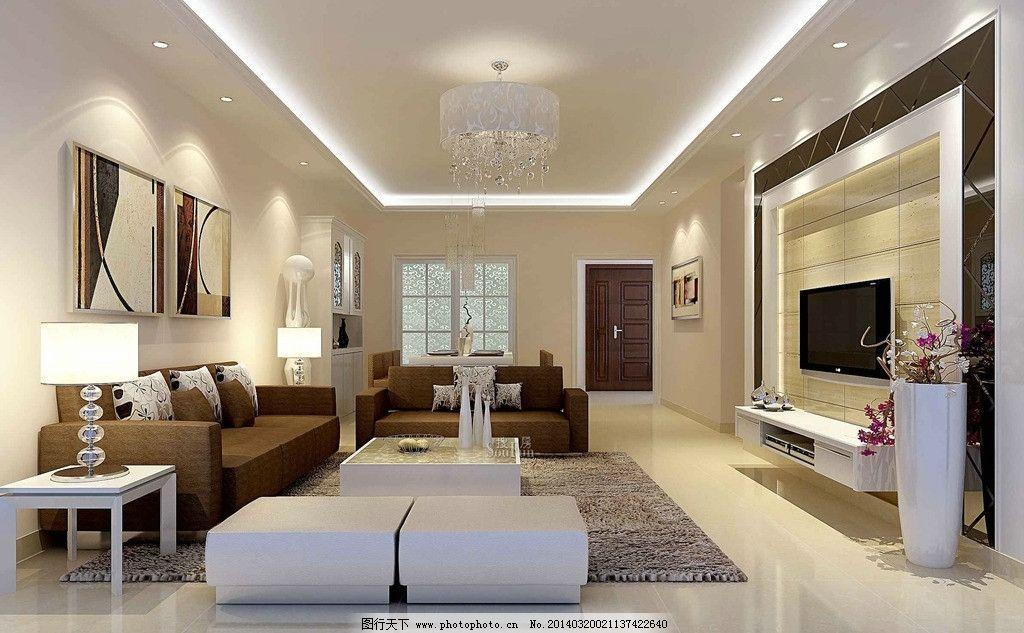 餐厅 装修效果图 吊顶 电视墙 沙发墙 现代简约 门 木门 3d设计