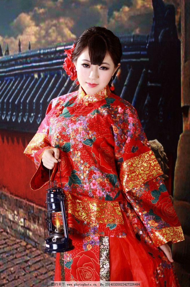 古装美女 城墙 马灯 新娘 旗袍 唯美 古装摄影 艺术照 玄觞