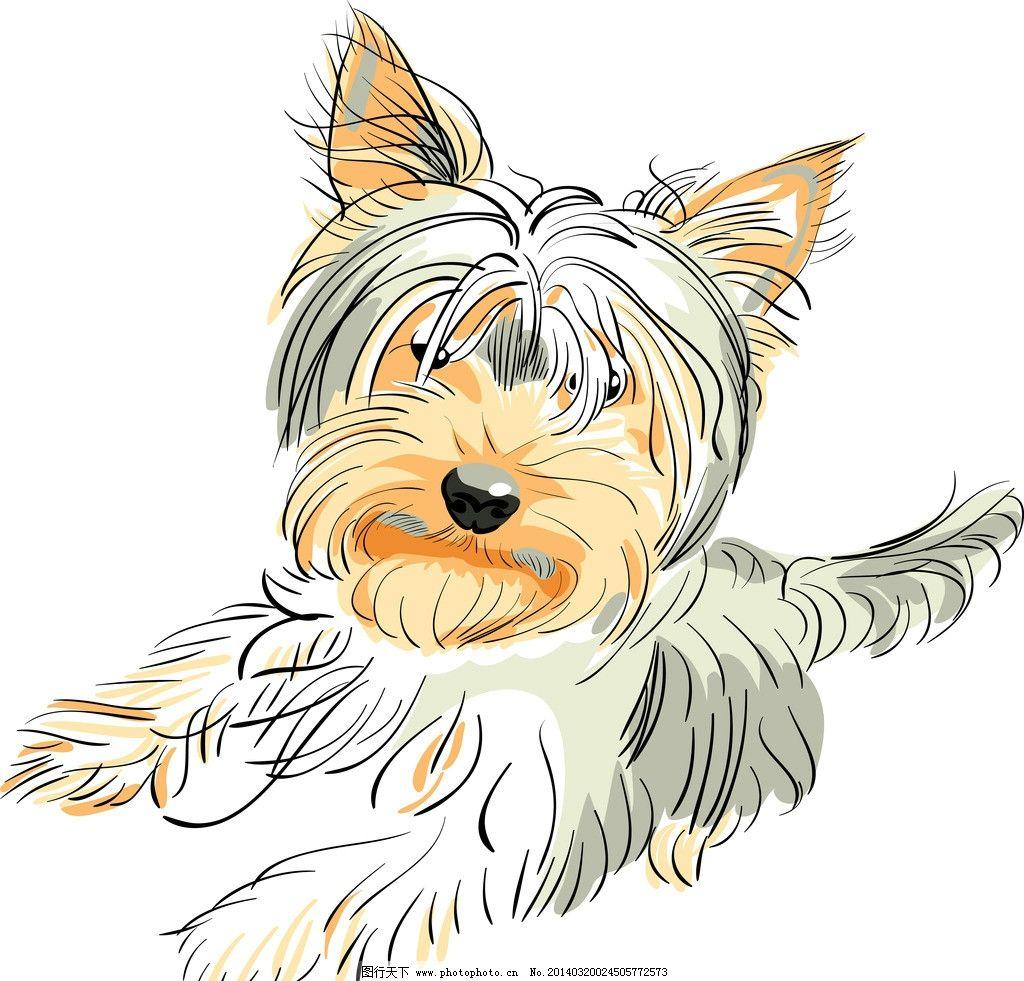 宠物狗 小狗 卡通 犬类 手绘 狗狗 哺乳动物 卡通插画 矢量
