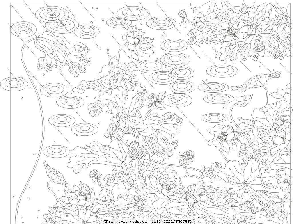 欧式 花纹 背景 玻雕矢量素材 玻雕模板下载 玻雕 矢量 线稿 黑色 花