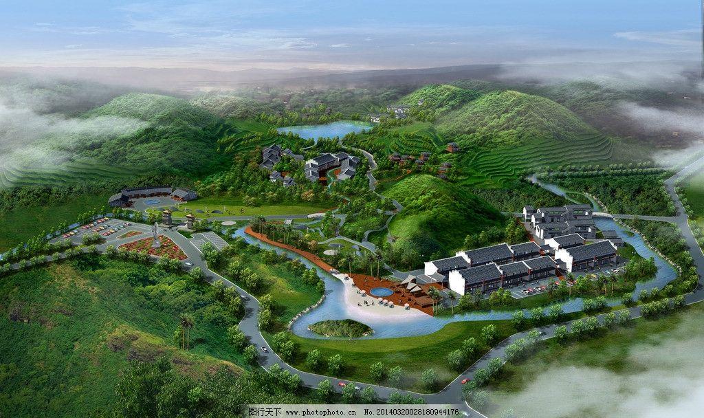 旅游景区鸟瞰图 旅游 景区 鸟瞰图 园林 景观 景观设计 环境设计 设计