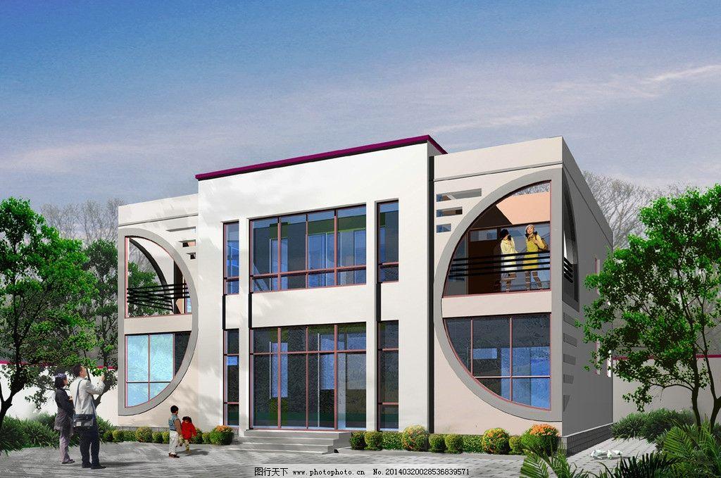 二层别墅效果图 二层别墅 农村别墅 别墅效果图 二层别墅设计方案