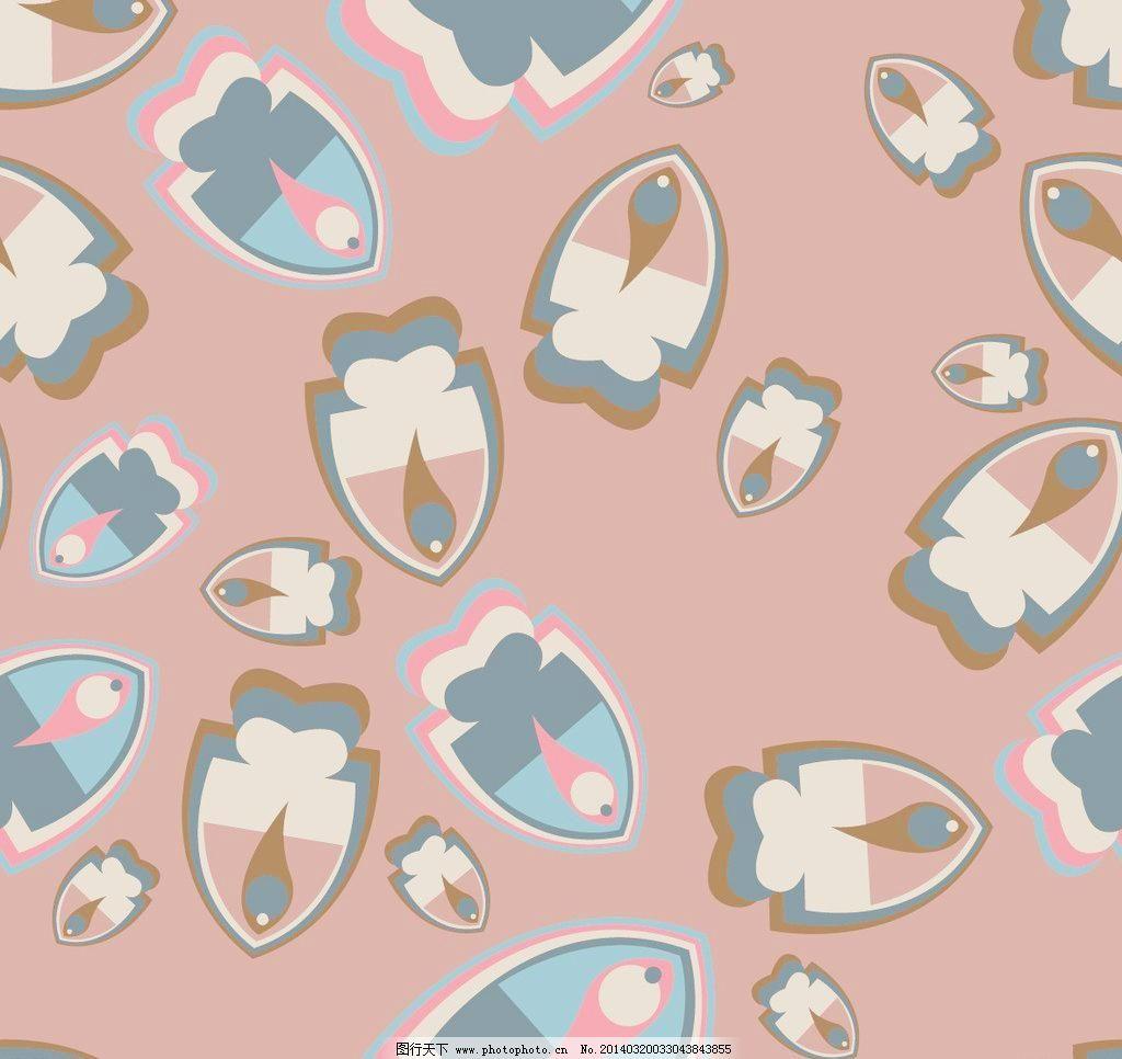 抽象 底纹背景 底纹边框 色块鱼形图案底纹背景矢量素材 色块鱼形图案图片