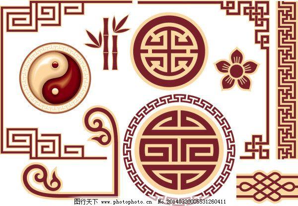 传统 窗花 雕花 复古 古典 囍 花边 华丽 中国风 传统 古典 囍 边角