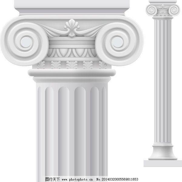 雕刻 浮雕 复古 宫廷 古典 建筑 建筑物 欧式 石柱 条纹 石柱 柱子
