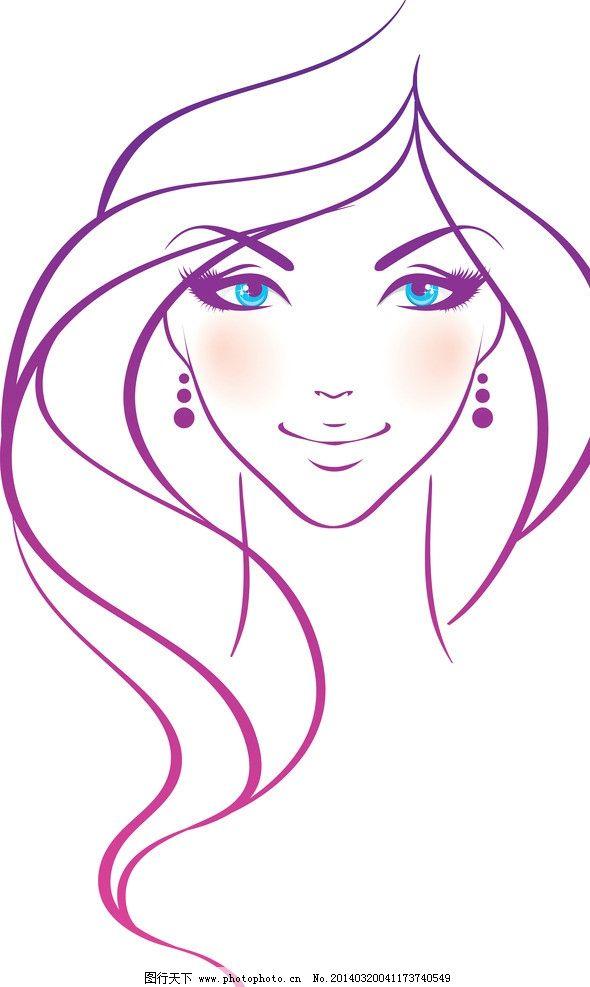 手绘少女图片,女孩 女人 美丽 浪漫 线描 性感 时尚