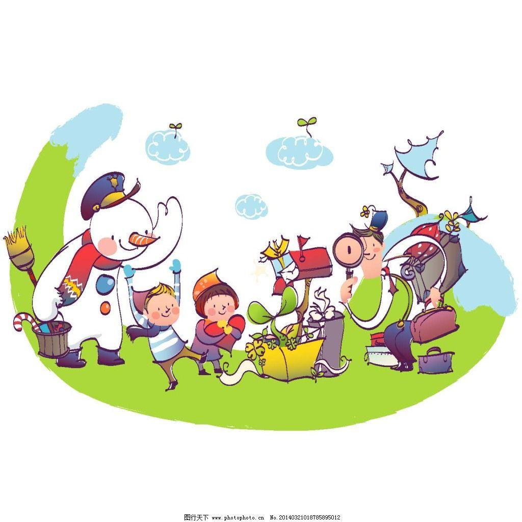 冬天卡通家庭免费下载 卡通家庭 全家福 雪人 卡通家庭 全家福 雪人图片