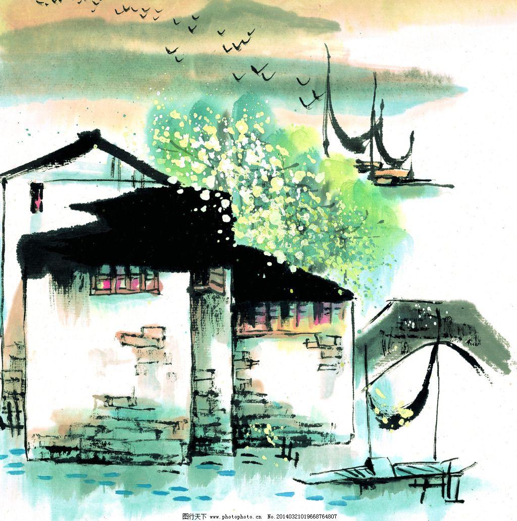 古风山水风景画免费下载 国画 山水 水墨 国画 山水 水墨 图片素材