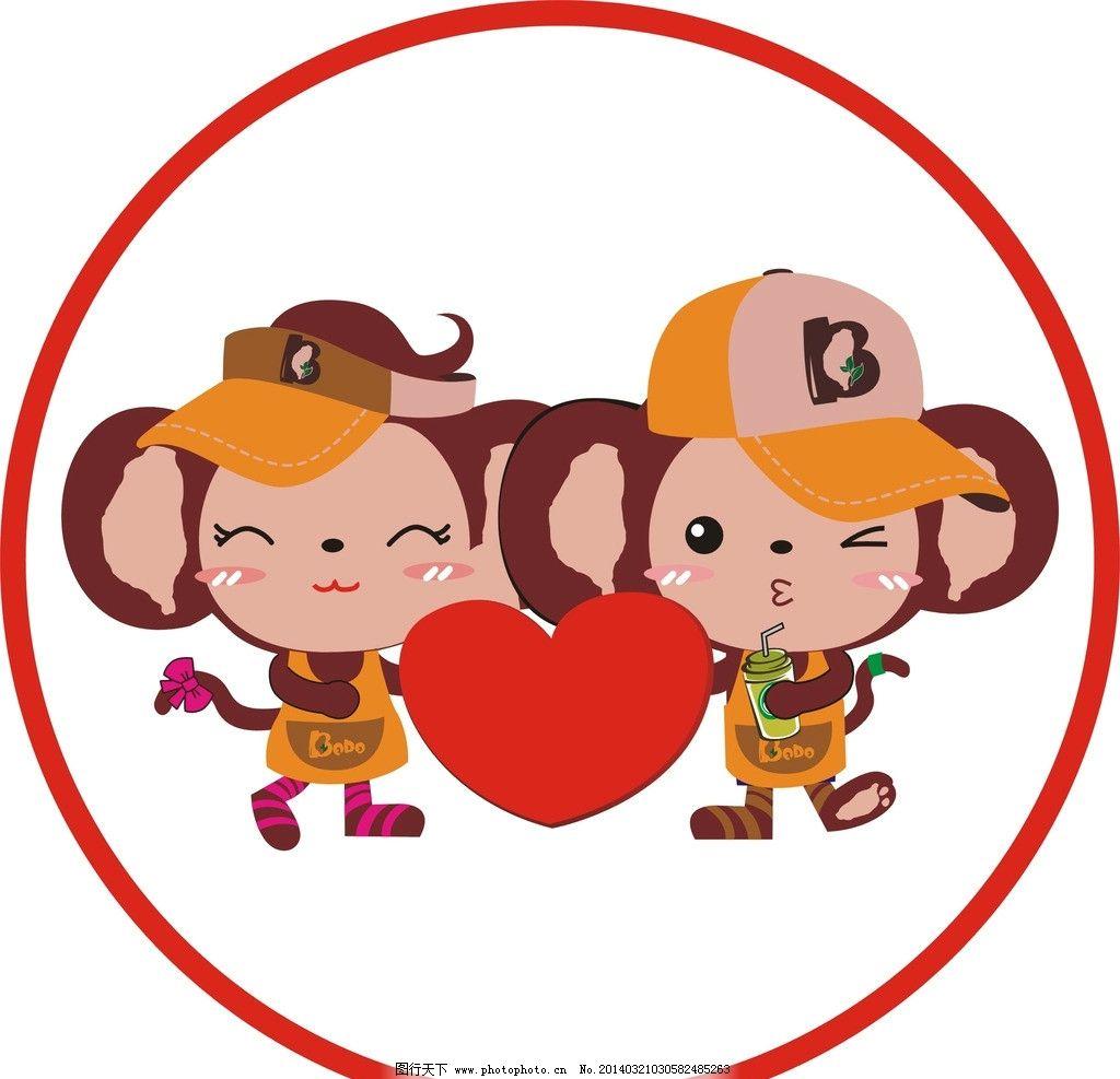 小猴子 可爱 卡通 有趣