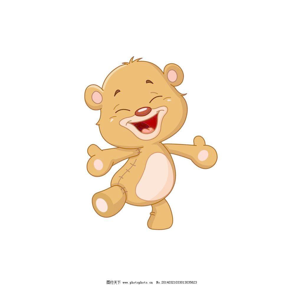 可爱卡通小熊 可爱 小熊 爱心 气球 蝴蝶 动物 拥抱 卡通熊 橘色 可爱