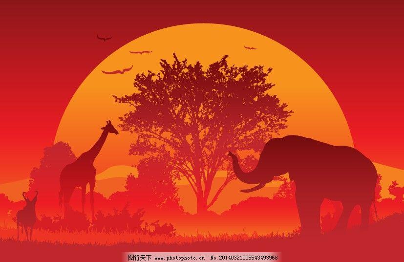 非洲矢量动物