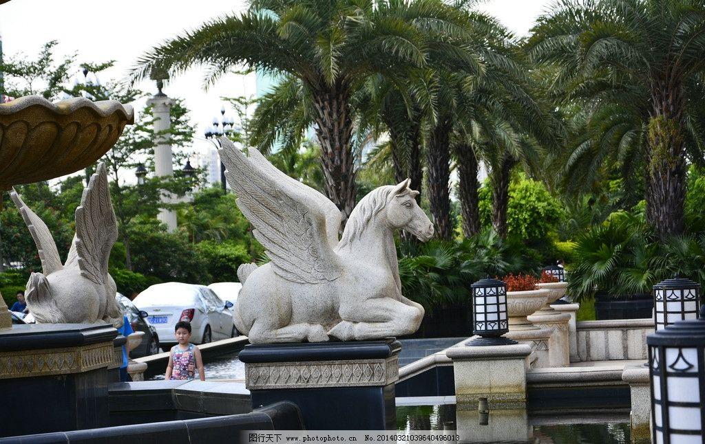 欧式雕塑 欧洲 风格 建筑 天晴 风景 雕塑 建筑园林 摄影 300dpi jpg
