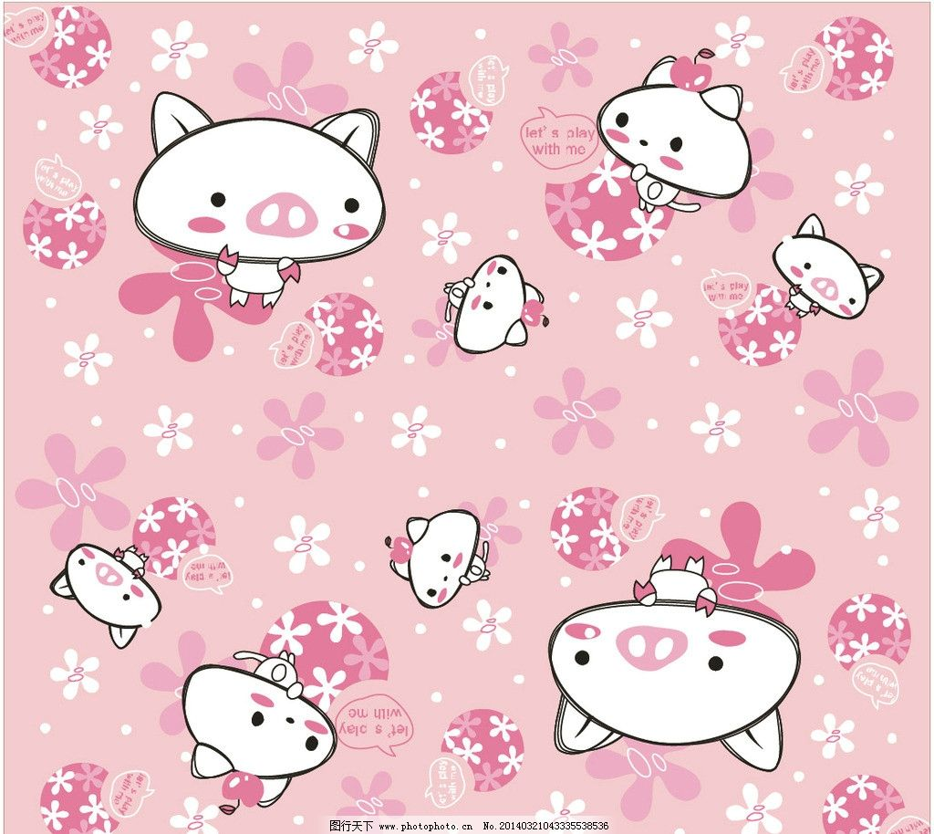 卡通猪 图案设计 卡通 卡通封面 本本封面 服装设计 图案 可爱动物