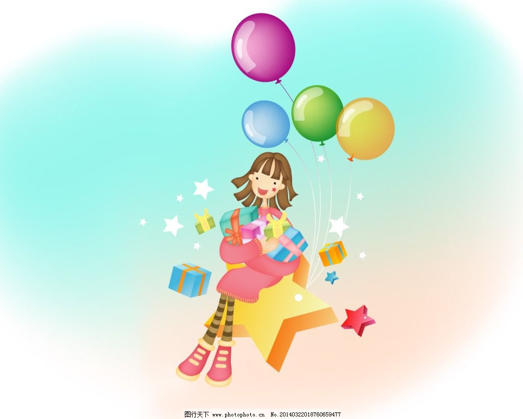 气球 小人 星星 气球 小人 星星 图片素材 卡通|动漫|可爱图片